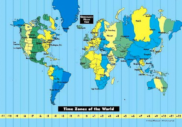 How Many World Time Zones?